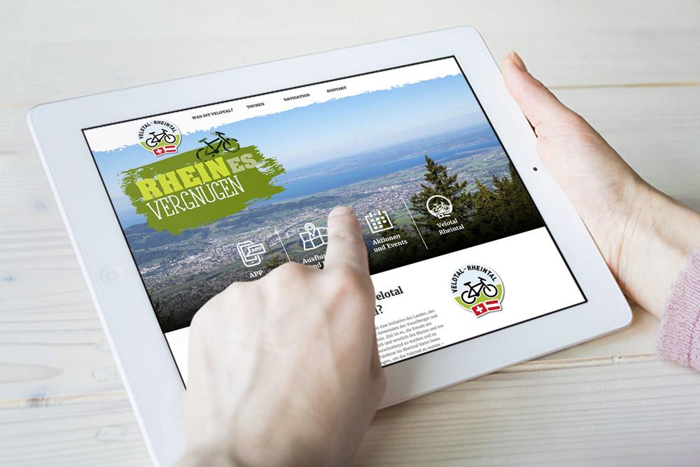 Velotal Rheintal Website